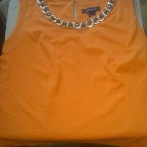 Ashley Stewart chain glam blouse